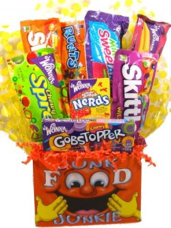 "Delight Expressions Junk Food ""Junkie"" Gift Basket (Small) – Birthday or Get W ..."