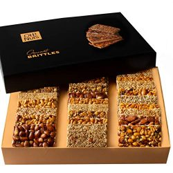 Oh! Nuts Christmas Candy Brittle Gift Baskets, 8 Variety Gourmet Holiday Sweets Treats Mixed Nut ...