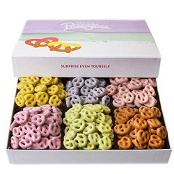 Ella's Chocolate Covered Pretzels Christmas Gift Baskets, 6 Variety Fruit Yogurt Assorted  ...