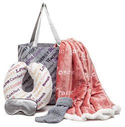 Chanasya 5-Piece Warm Hugs Positive Energy Healing Thoughts Combo Gift Pack Throw Blanket – ...