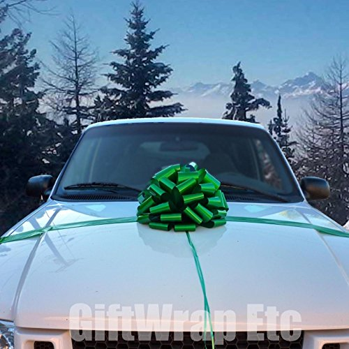 Large Emerald Green Car Bow – 16″ Wide, St. Patrick's Day, Christmas, Birthday ...