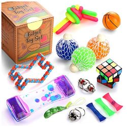 Fidget Toys Set, 22 Pcs. Sensory Tools Bundle for Stress Relief and Anti-Anxiety for Kids and Ad ...