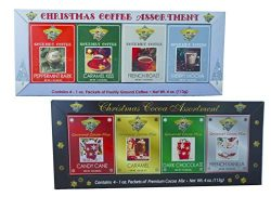 Christmas Coffee and Cocoa Gift Box Set Basket