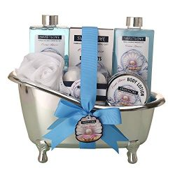 Spa Gift Basket for women,Bath & Body gift sets for her,Luxurious 10 Piece,Includes Bubble B ...