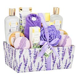 Spa Luxetique Bath Spa Gift Baskets Lavender, Premium 12pc Gift Baskets for Women, Home Spa Gift ...