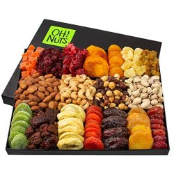 Oh! Nuts Christmas Gift Baskets – XL 18 Variety Dried Fruit & Nut Gourmet Holiday Fami ...