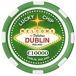 Irish Designed St. Patrick's Day Poker Chip With Welcome To Fabulous Dublin Text