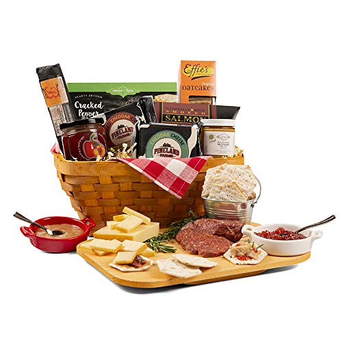 Charcuterie Lovers Picnic Basket Gift – Meat & Cheese Gift Basket