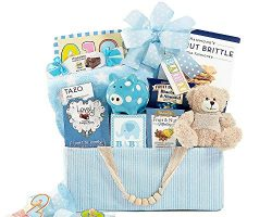 Bundle of Joy Blue Newborn Baby Boy Gift Baskets Congratulations Newborn Baby Blue Baby Shower G ...