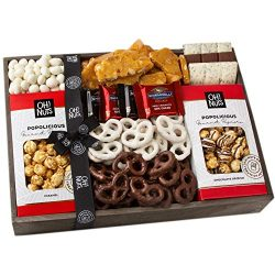 Oh! Nuts Christmas Ghirardelli Chocolate Gift Baskets, Gourmet Popcorn Holiday Candy Basket Brit ...