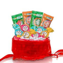 Healthy Christmas Treats Mini Holiday Gift Basket: Healthy Christmas Candy Treats & Gourmet  ...