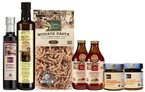 Papa Vince CLEAN FOOD Gift Basket | NON GMO ingredients grown in local Sicily, Italy | VEGAN, ME ...