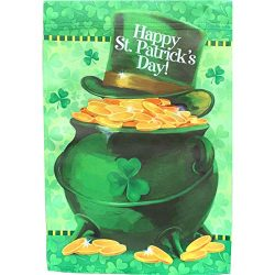 GiftWrap Etc. St. Paddy's Day Garden Flag – 12″ x 18″, Double Sided Yard ...