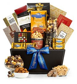 GiftTree Metropolitan Congratulations Gift Basket | Assorted Candy, Pistachios, Dried Pineapple, ...