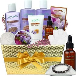 Bath Gift Baskets for Women – Frankincense & Myrrh Aromatherapy Home Spa Gift Baskets  ...