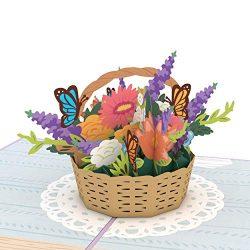 Lovepop Flower Basket Pop Up Card, Card for Mom, Card for Wife, 3D Card, Flower Card, Spring Car ...