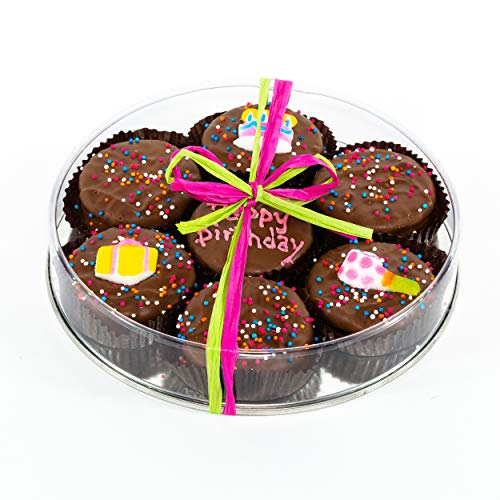 Olde Naples Happy Birthday Gift, Chocolate Dipped Oreo Cookies Hand Decorated, Gift Basket Assor ...