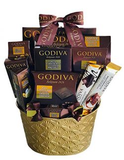 LA Signature Godiva Chocolatier Gift Basket (Brown)