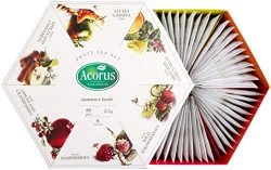 ACORUS Summer Taste – natural Fruit Tea Set of six different flavours in the Beautiful Pre ...