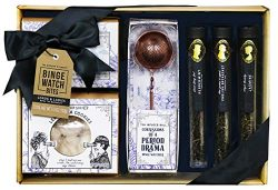 Thoughtfully Gifts, Lords and Ladies Royal Tea Making Kit, Includes Sugar Cubes, Lemon Tea Cooki ...