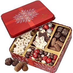 BONNIE AND POP Holiday Gift Basket – Christmas Chocolate Gift with Assorted Chocolate Nuts ...