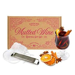 Cooking Gift Set | Mulled Wine Cocktail Kit ( 9 Piece ) Perfect New Wine Accessories for Birthda ...