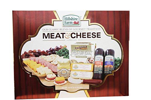 Hillshire Farm Holiday Classic Collection Sausage, Cheese, Mustard & Crackers Gift Set, 35 O ...