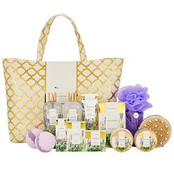 Spa Luxetique Lavender Spa Gift Baskets for Women, Luxurious 15pc Gift Baskets with Spa Tote Bag ...