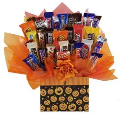 Chocolate Candy bouquet (Halloween Pumpkins Galore Gift Box)