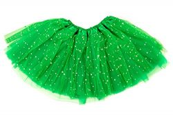 Dancina Girls Tutu for St Patrick Mardi Gras Parade 2-7 Years Green