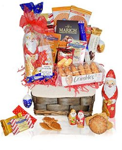Christmas Gift Baskets – Macaroons, Chocolate, Santa, Walkers, Holiday – Premium Gif ...
