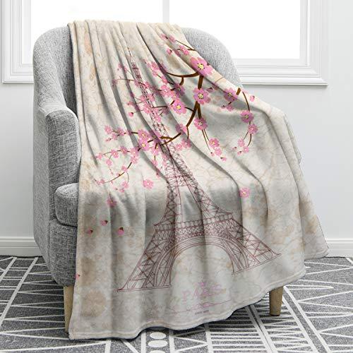 Jekeno Eiffel Tower Blanket Comfort Lightweight Super Soft Print Throw Blanket for Adults Kids G ...