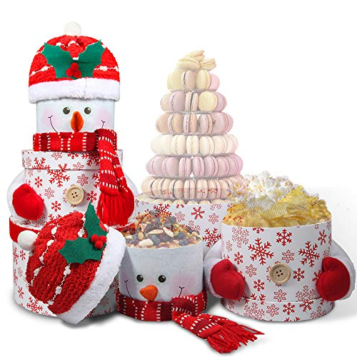 snowman tower christmas gift basket