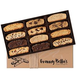 Granny Bella's Christmas Biscotti Gift Baskets, 12 Gourmet Italian Cookies, Corporate Food ...