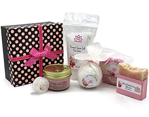 Bath and Body Luxury Spa Gift Set For Women – Natural Coconut Oil Epsom Salt Bath Bombs, O ...