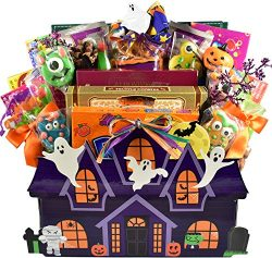 Hauntingly Good, Halloween Gift Basket with Traditional Boxed Candies and Special Gourmet Treats ...