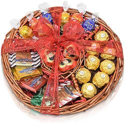 Christmas Gift Basket – Chocolate Variety Chocolate Tray for Family, Friends, Gourmet Food ...