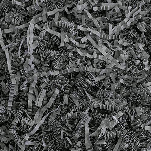 Crinkle Cut Paper Shred Filler (1/2 LB) for Gift Wrapping & Basket Filling – Slate Gra ...