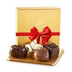 Godiva Gold Favor Chocolate Gift Box, with Red Ribbon – Assorted Chocolates Truffles ̵ ...