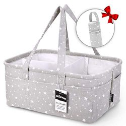 StarHug Baby Diaper Caddy Organizer – Baby Shower Gift Basket | Large Nursery Storage Bin  ...