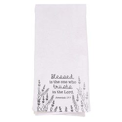 Christian Kitchen Towel, – Trust in The Lord Tea Towel – Jeremiah 17:7 Printed Flour ...