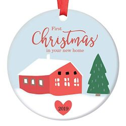 First Time Homeowners Christmas Ornament Charming 2019 Country Keepsake Newlywed Wedding Housewa ...