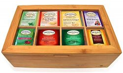 Twinings Tea Bags Sampler Assortment Box – 80 COUNT – Perfect Variety Pack in Bamboo ...