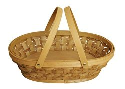 Wald Imports Brown Woodchip 15″ Decorative Storage Basket