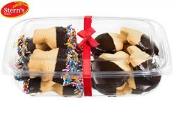 Stern's Bakery Traditional Hanukkah Menorah & Dreidel Shortbread Cookie Gift Basket, 2 ...