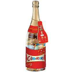 CELEBRATIONS Chocolate Variety Mix Holiday Candy Bars, Christmas Gift Champagne Bottle (DOVE, TW ...