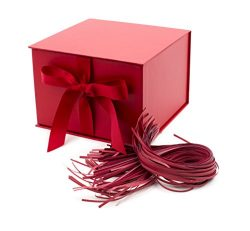 Hallmark 7″ Large Gift Box with Fill (Red) for Birthdays, Christmas, Bridal Showers, Weddi ...