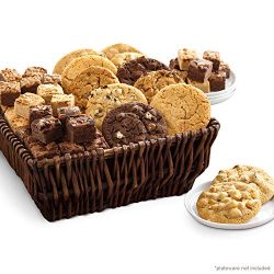 Mrs. Fields Cookies Full Dozen Cookies & Brownie Bites Basket (84 Count)