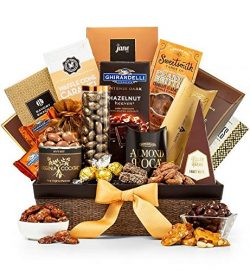 GiftTree Generous Nuts and Chocolate Gift Basket | Ghirardelli Chocolate, Assorted Nuts, Toffee  ...