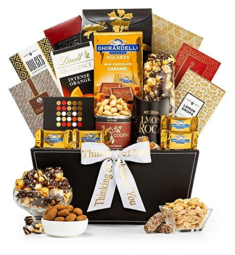 GiftTree Metropolitan Gourmet Thinking of You Gift Basket | Assorted Candy, Pistachios, Dried Pi ...